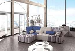 Salas de estilo moderno por MUEBLES OYAGA