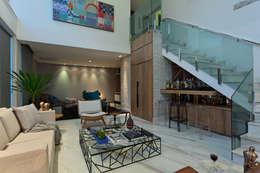 Salas / recibidores de estilo moderno por Lucas Lage Arquitetura