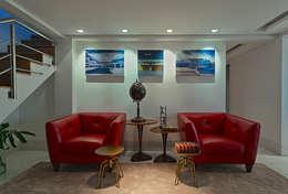 AP L703: Salas de estar modernas por Lucas Lage Arquitetura
