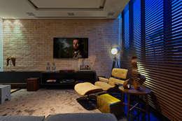 غرفة الميديا تنفيذ Lucas Lage Arquitetura
