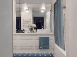 СЕВЕРНОЕ СИЯНИЕ. КВАРТИРА В ПОДМОСКОВЬЕ: Ванные комнаты в . Автор – Volkovs studio