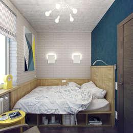 Dormitorios de estilo industrial de Студия дизайна Марии Губиной