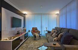 AP VN601: Salas de estar modernas por Lucas Lage Arquitetura