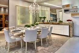 Decora Lider Campinas - Sala de Almoço – Em Volta da Mesa: Salas de jantar modernas por Lider Interiores