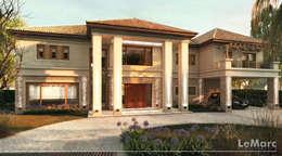 Fachada de Vivienda Leloir: Casas de estilo mediterraneo por Estudio JP
