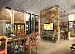 Interior Comedor Principal: Comedores de estilo moderno por Estudio JP