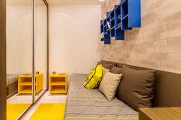 Cuartos de estilo moderno por Flávio Monteiro Arquitetos Associados