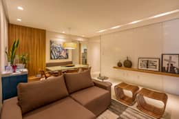 Salas / recibidores de estilo moderno por Flávio Monteiro Arquitetos Associados