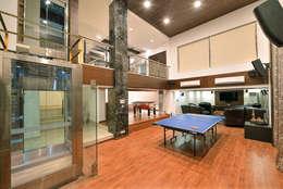 minimalistic Garage/shed by ARK Reza Kabul Architects Pvt. Ltd.