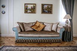 غرفة المعيشة تنفيذ Designer Olga Aysina