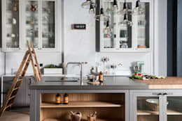 W9  |  Eclectic Industrialism: industrial Kitchen by Davonport