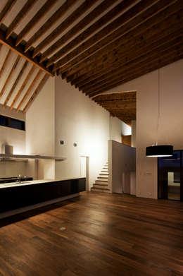 modern Living room by 向山建築設計事務所