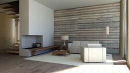 Haus Am Feld: Minimalistische Wohnzimmer Von Liebessinn ZT GesmbH