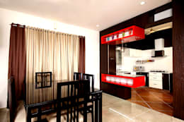 The dining.: eclectic Dining room by Sanskriti Architects