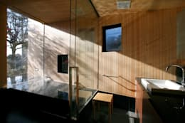 Bagno in stile in stile Moderno di 株式会社コヤマアトリエ一級建築士事務所