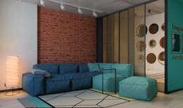 Salas de estilo industrial por Домрачева Екатерина