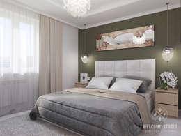 Cuartos de estilo minimalista por Мастерская дизайна Welcome Studio