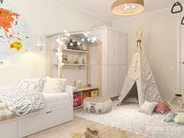Chambre d'enfant de style de style Scandinave par Мастерская дизайна Welcome Studio