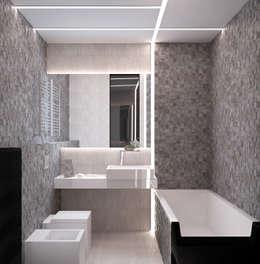 Квартира MINIMAL: Ванные комнаты в . Автор – QUADRUM STUDIO