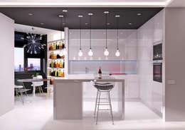 Projekty,  Kuchnia zaprojektowane przez QUADRUM STUDIO