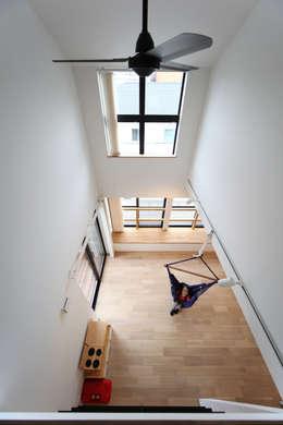 Projekty,  Salon zaprojektowane przez 加門建築設計室