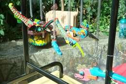Werkstatt + Atelier Petra Hemmers: Fabelwesen aus Gartengeräten - Upcyclingbörse Hannover 2015: ausgefallener Garten von Bauteilbörse Hannover