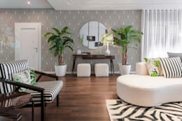 tropical Living room تنفيذ Movelvivo Interiores