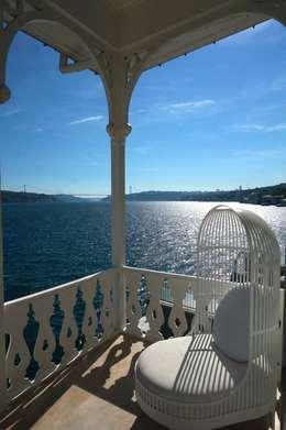 Bozantı Mimarlık – Gazebo Restaurant Yeniköy:  tarz Teras