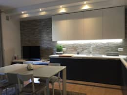 Albox KITCHEN – Albox MATT / Koyu Mavi & Beyaz: modern tarz Mutfak