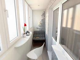 Дизайн проект квартиры 80,93 м2: Tерраса в . Автор – Artstyle