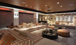 Salas / recibidores de estilo moderno por ANNA MAYA & ANDERSON SCHUSSLER