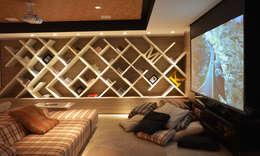 Projekty,  Pokój multimedialny zaprojektowane przez ANNA MAYA & ANDERSON SCHUSSLER