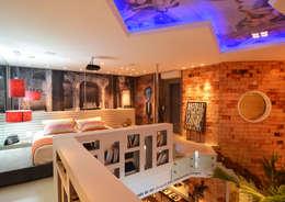 Dormitorios de estilo  por ANNA MAYA & ANDERSON SCHUSSLER