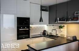REALIZACJA TARCHOMIN, Warszawa: styl , w kategorii Kuchnia zaprojektowany przez AS-MEB