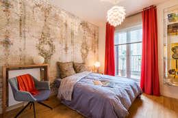 Chambre ambiance Pompei: Chambre de style de style Asiatique par EXPRESSION ARCHITECTURE INTERIEUR