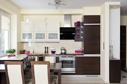Nowoczesne mieszkanie w Krakowie: styl , w kategorii Kuchnia zaprojektowany przez ARTEMA  PRACOWANIA ARCHITEKTURY  WNĘTRZ