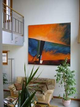 villa afp: Salon de style de style Moderne par A.FUKE-PRIGENT ARCHITECTE