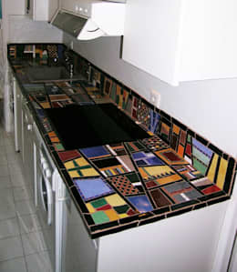 Mozaique: Cuisine de style de style Moderne par Moz-art mosaique