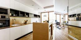 mieszkanie prywatne 3 pokoje - Garnizon - Gdańsk: styl , w kategorii Kuchnia zaprojektowany przez Anna Maria Sokołowska Architektura Wnętrz
