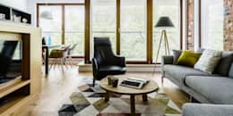 mieszkanie prywatne 3 pokoje - Garnizon - Gdańsk: styl , w kategorii Salon zaprojektowany przez Anna Maria Sokołowska Architektura Wnętrz