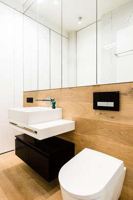 modern Bathroom by Anna Maria Sokołowska Architektura Wnętrz