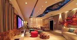 Salas de entretenimiento de estilo moderno por ANNA MAYA & ANDERSON SCHUSSLER