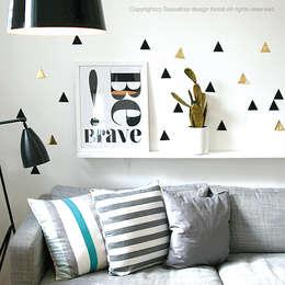 Semo wall deco stickers: SASSAFRAS의  벽 & 바닥