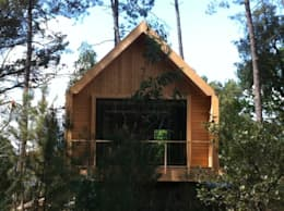 rustic Houses by NORMA | Nova Arquitectura em Madeira (New Architecture in Wood)