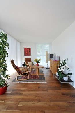a4D Architekten AG: modern tarz Oturma Odası