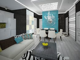 изысканный фьюжн: Гостиная в . Автор – Decor&Design