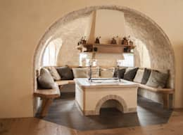 rustic Living room by RI-NOVO