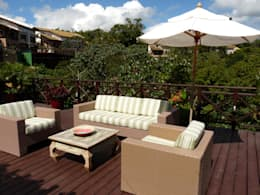 Terrazas de estilo  por Eveline Sampaio Arquiteta e Designer de Interiores