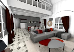 Le salon: Salon de style de style Moderne par Dem Design