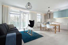 mieszkanie pokazowe 4 pokoje - apartamenty na polanie - Gdynia: styl , w kategorii Salon zaprojektowany przez Anna Maria Sokołowska Architektura Wnętrz
